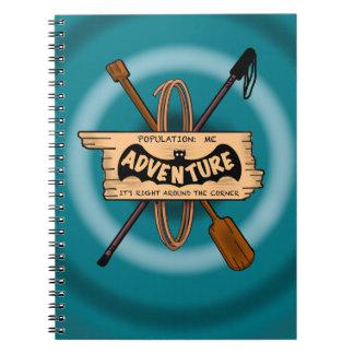 ADVENTURE CHALLENGE EMBELM by Slipperywindow Spiral Notebook