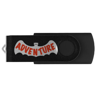 ADVENTURE DARK NIGHT BAT by Slipperywindow USB Flash Drive