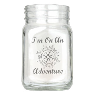 Adventure Glass Mason Jar