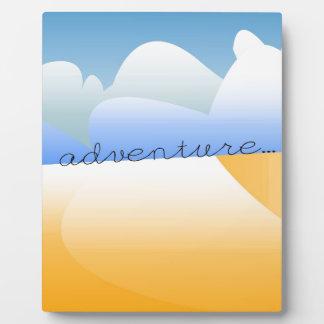 adventure in desert display plaque