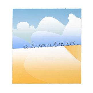 adventure in desert notepad