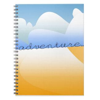 adventure in desert spiral notebook