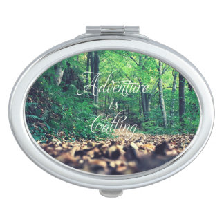 Adventure is calling compact mirror