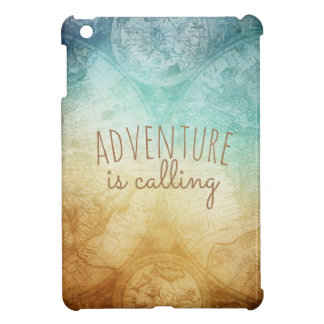 adventure is calling vintage map design iPad mini covers