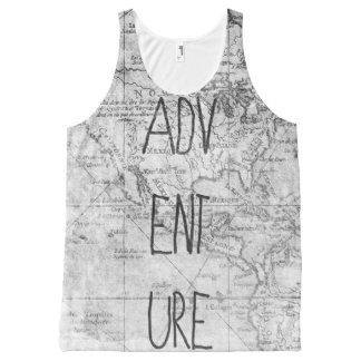 Adventure map All-Over-Print tank top