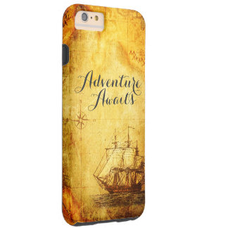Adventure Map & Ship iPhone Line Cases
