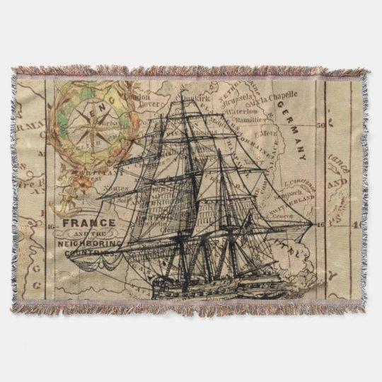 Adventure Mapped Throw Blanket