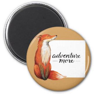 adventure more fox 2 inch round magnet