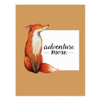 adventure more fox postcard