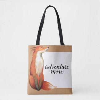 Adventure More Fox Tote Bag