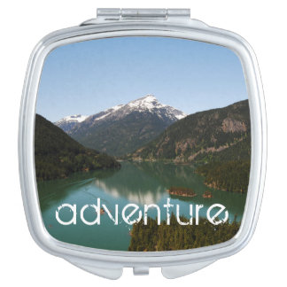 Adventure Mountain Compact Vanity Mirror