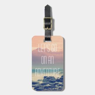 Adventure print luggage tag