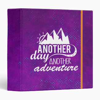 Adventure Quote - Mountains on Purple Background Binder