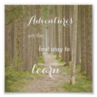 Adventure Quote Typography Poster