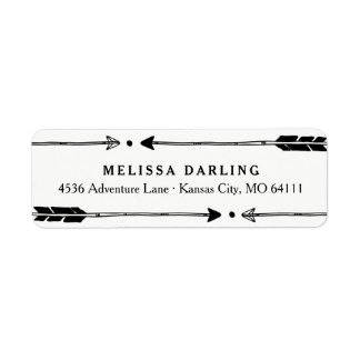 Adventure Themed Address Labels with Cute Arrows
