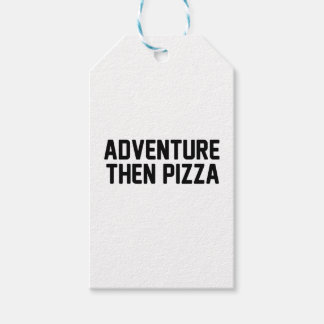 Adventure Then Pizza Gift Tags