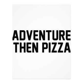 Adventure Then Pizza Letterhead
