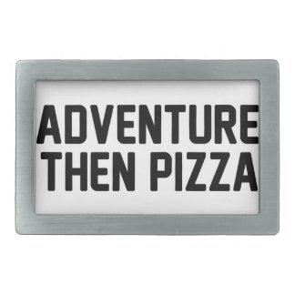 Adventure Then Pizza Rectangular Belt Buckle