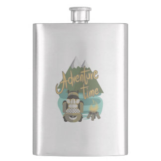 Adventure time hip flask