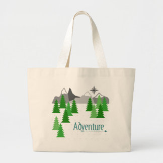 Adventure to the Mountains tote bag.