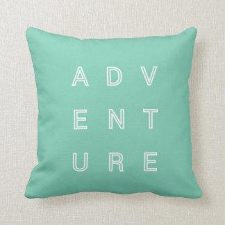Adventure Travel Pillow Modern Typography