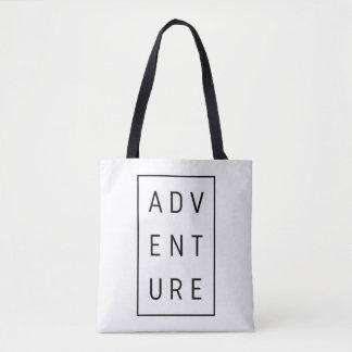 Adventure Typography Tote Bag