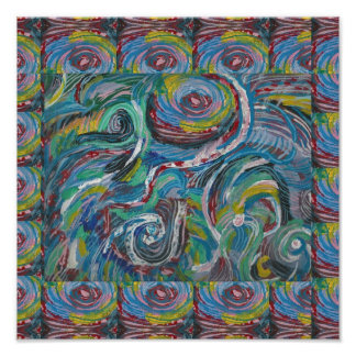 ADVENTURE Waves Abstract Art LOWPRICE Poster