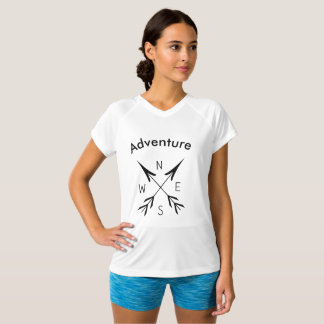 """Adventure"" Women's Champion Double-Dry V-Neck T-S T-Shirt"