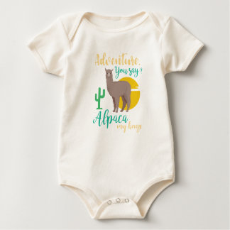 Adventure You Say? Alpaca My Bags Funny Travel Baby Bodysuit
