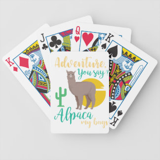 Adventure You Say? Alpaca My Bags Funny Travel Bicycle Playing Cards