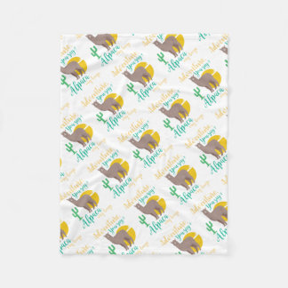 Adventure You Say? Alpaca My Bags Funny Travel Fleece Blanket