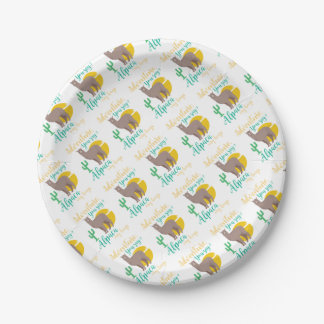 Adventure You Say? Alpaca My Bags Funny Travel Paper Plate