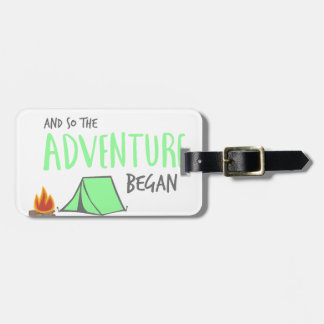 adventurebegan luggage tag