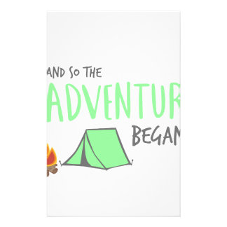 adventurebegan stationery