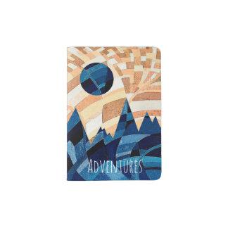 Adventures Blue Moon and Mountains Passport Holder