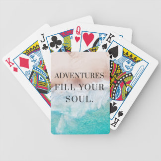 Adventures fill your soul bicycle playing cards
