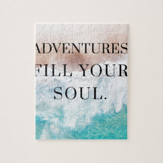 Adventures fill your soul jigsaw puzzle