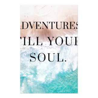 Adventures fill your soul stationery