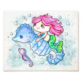 Adventurous Cutie Little Mermaid Photo Print