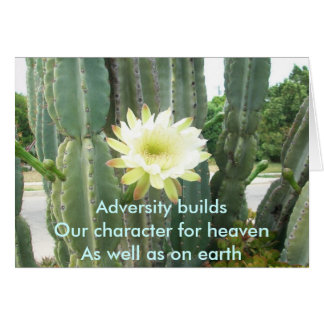 Adversity Builds Card