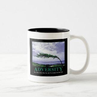 adversity Two-Tone coffee mug