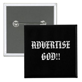 ADVERTISE GOD!!... Religious buttons