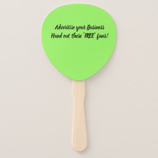 Advertise Your Business Hand Fan