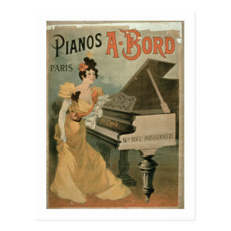 Advertisement for 'A. Bord Pianos, Paris' (colour Postcard