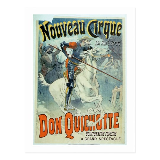 Advertisement for 'Don Quixote, New Circus', Horse Postcard