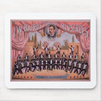 Advertisement for 'I.W. Bairn's Famous Minstrels' Mousepad