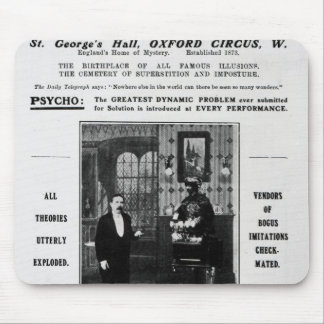 Advertisement for Maskelyne & Devant's Mysteries Mouse Pad