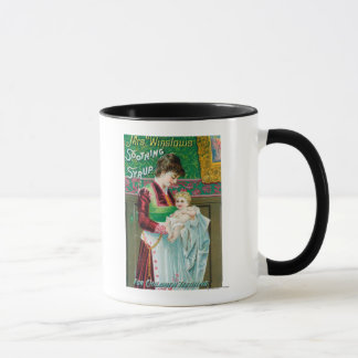 Advertisement for Mrs Winslows Soothing Syrup Mug