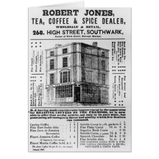 Advertisement for Robert Jones Tea Cards