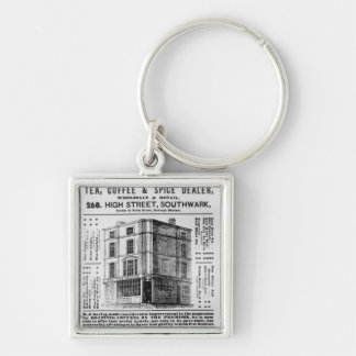 Advertisement for Robert Jones, Tea Silver-Colored Square Keychain